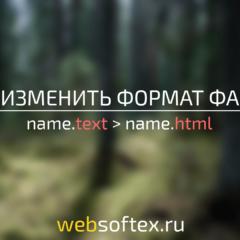 Как изменить формат файла?