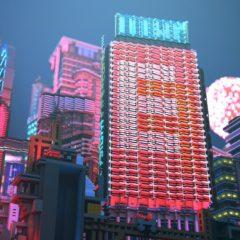 Minecraft — игрок создает невероятную сцену киберпанка