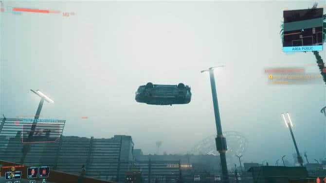 10 самых распространенных ошибок в игре Cyberpunk 2077 car fly